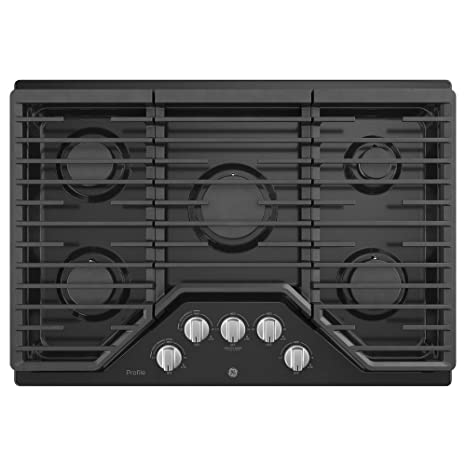 GE Profile PGP7030DLBB 30 Inch Natural Gas Sealed Burner Style Cooktop With  5 Burners, ADA