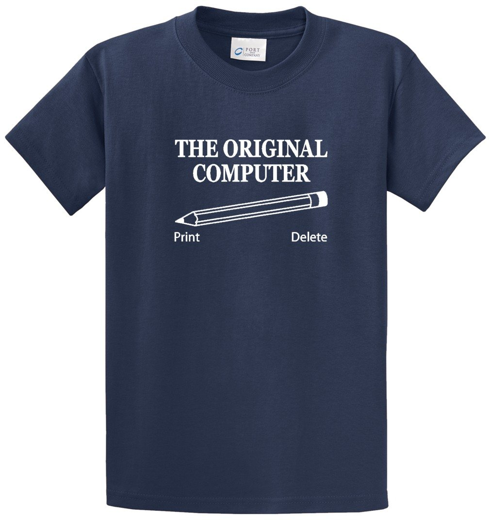 THE ORIGINAL COMPUTER PRINTED TEE SHIRT - NAVY 3XL