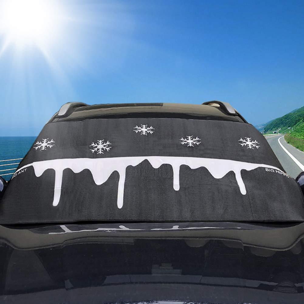 Fit pour la Plupart des v/éhicule Big Ant Pare-Brise Housse Snow Neige avec grattoir Bonus R/ésiste au Gel et Glace Pare-Brise Protector Coupe-Vent pour Quatre Saisons