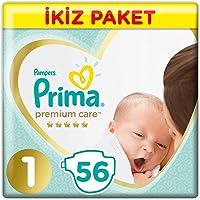 Prima Bebek Bezi Premium Care 1 Beden Yenidoğan Ekonomi Paketi, 56 Adet
