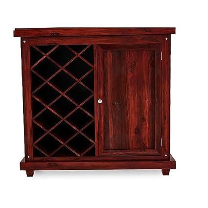 Ringabell Andis Solid Wood Bar Cabinet (Mahogany Finish)