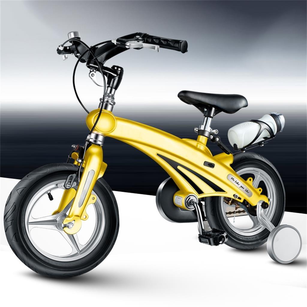 Bike Bicicletas para niños 12/14/16 Pulgadas bebé Bicicleta de montaña Regalo Manillar Foldable Creativo Moda Lindo (Color : 2, Tamaño : 16 Inches)