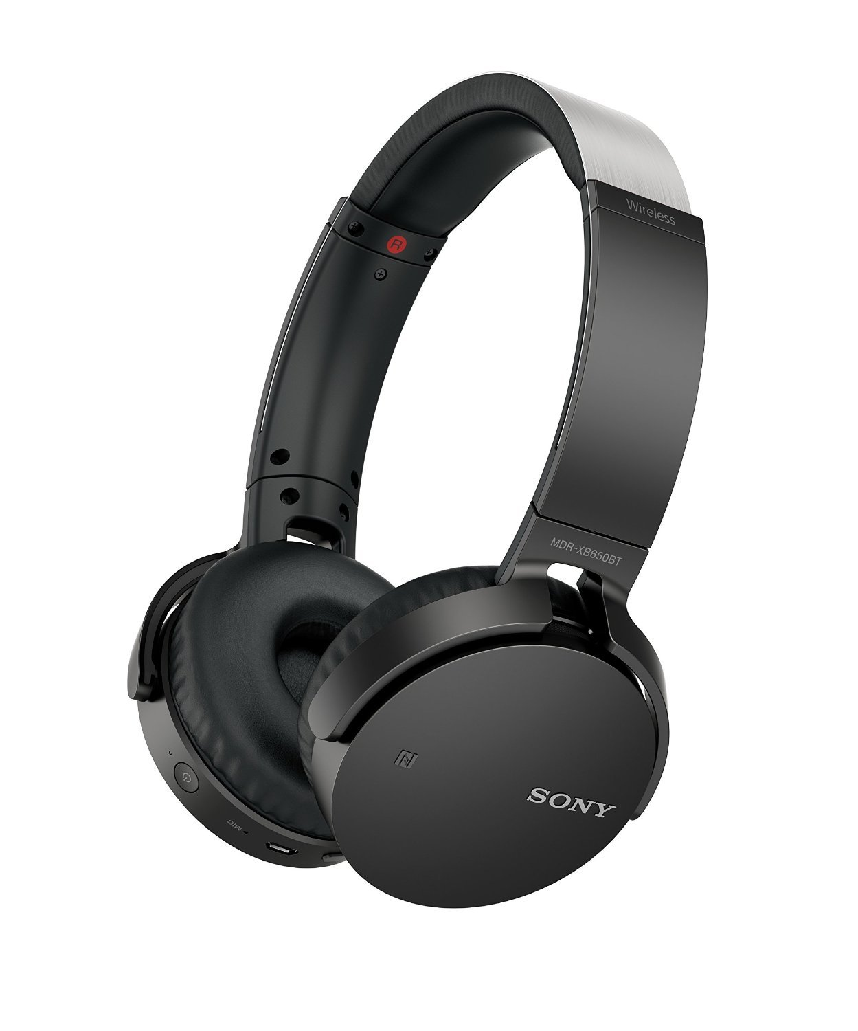Sony MDR-XB650BT/B Extra Bass Bluetooth NFC Wireless Headphones - Black (Renewed)