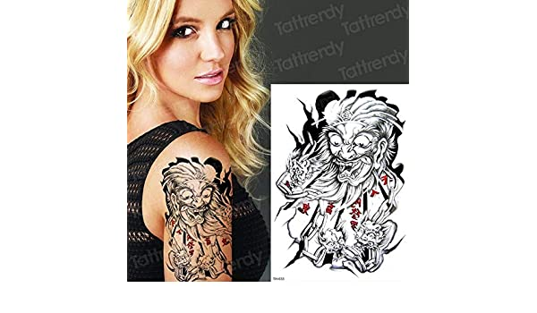 3pcs-Tatuaje Temporal Animal Lion Head Tattoo Sticker Arte ...