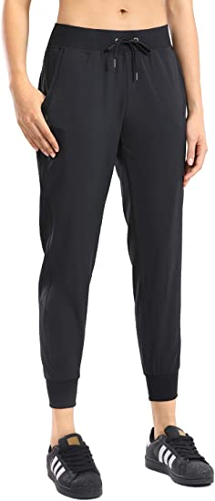 CRZ YOGA Pantalón Deportivo Mujer con Bolsillos Pantalones Harem con Cordones