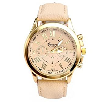 1fb075a0e7daf Hot Sale Valentine Gift Women's Geneva Leather Analog Quartz Roman Numerals  Watch