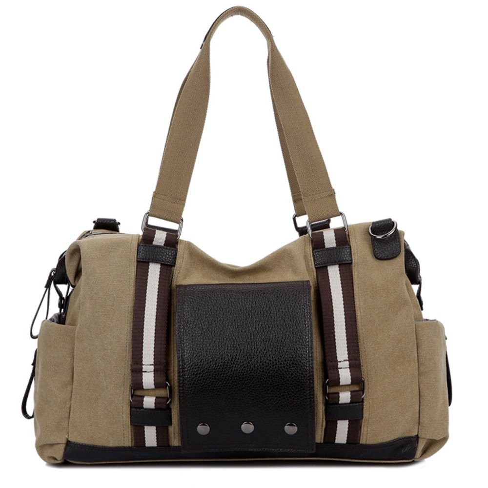 Casual Travel Tote Bag Large Canvas Single Shoulder Bag for Men Women LZ17050302