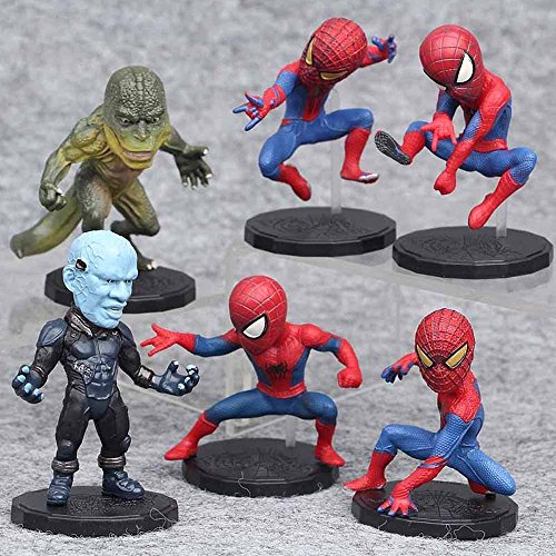 gg The Amazing spider Man lizard 6 PCS PVC Action Figure Collection Toys Gifts