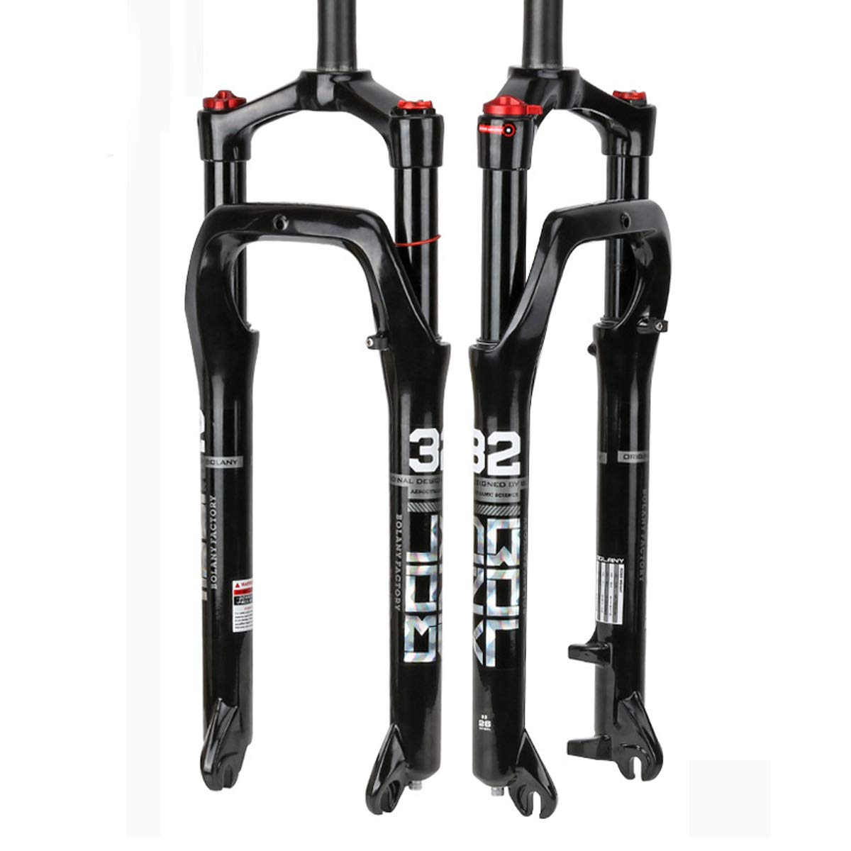 Bike Air Fat Fork- Snow Fat MTB Fork Travel 100MM Aluminum-Alloy Material Fit 4.0'' Tire Mountain Bike by GENERIC
