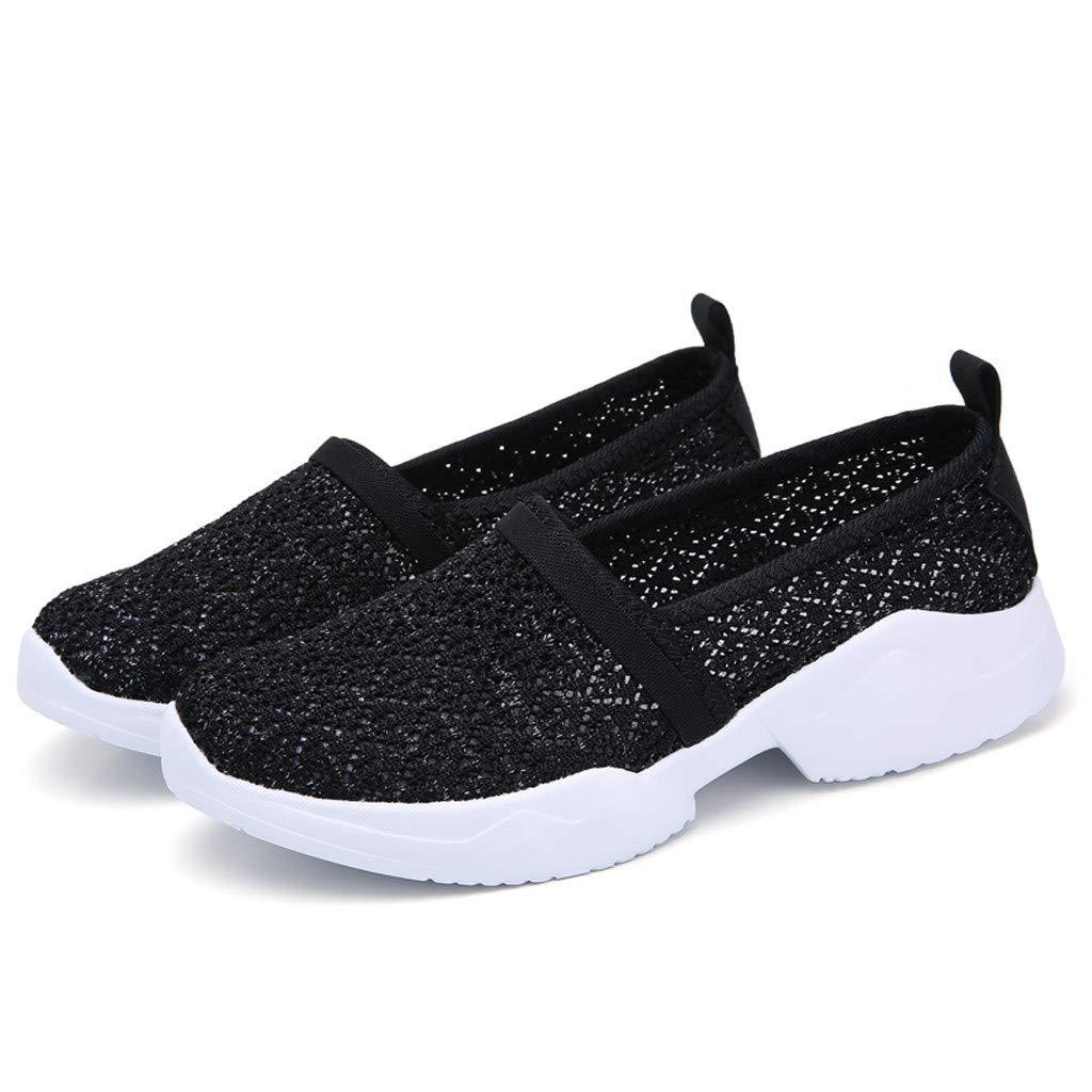 Moonker Ladies Slip On Sneakers Wide Width Walking Shoes Women Outdoor Mesh Casual Sport Shoes Comfortable Shoes