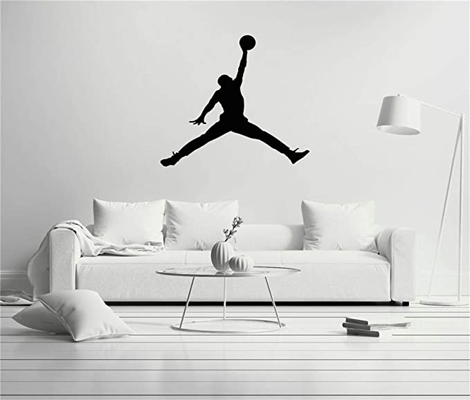 pegatinas decorativas pared Michael Jordan Jump Man Baloncesto ...