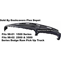 98-01 Dodge Ram 1500-3500 Series Dash Top Replacement 2002 Ram 2500 & 3500 Series color shown is black WITH