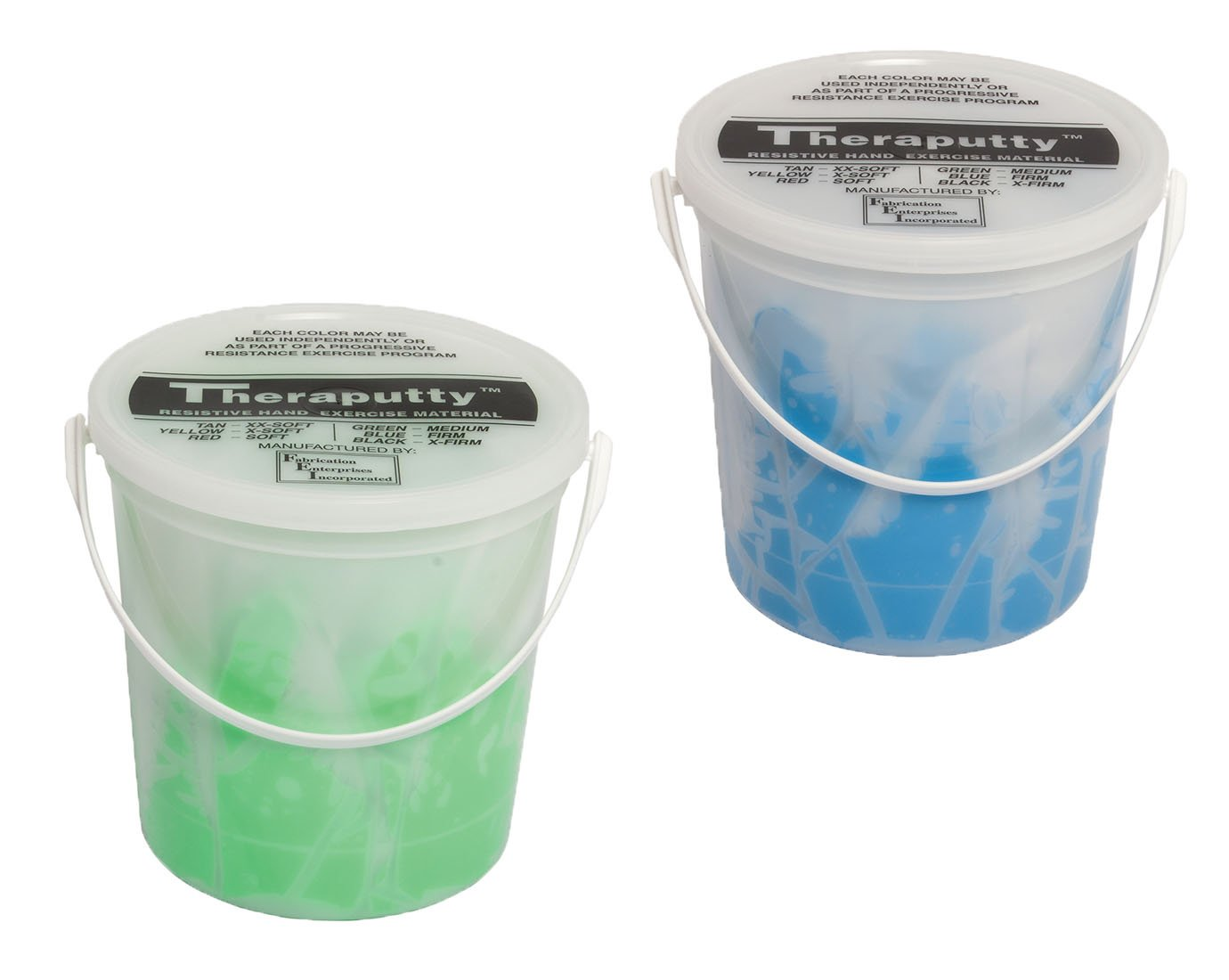 TheraPutty Standard Exercise Putty Green - Medium, Blue - Firm 5 LB Each - Bundle
