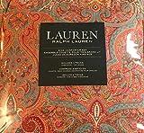 ralph lauren bedroom  King Comforter Set: 100% Cotton Paisley - Red, Red-Orange, Green, Blue, Yellow, Cream