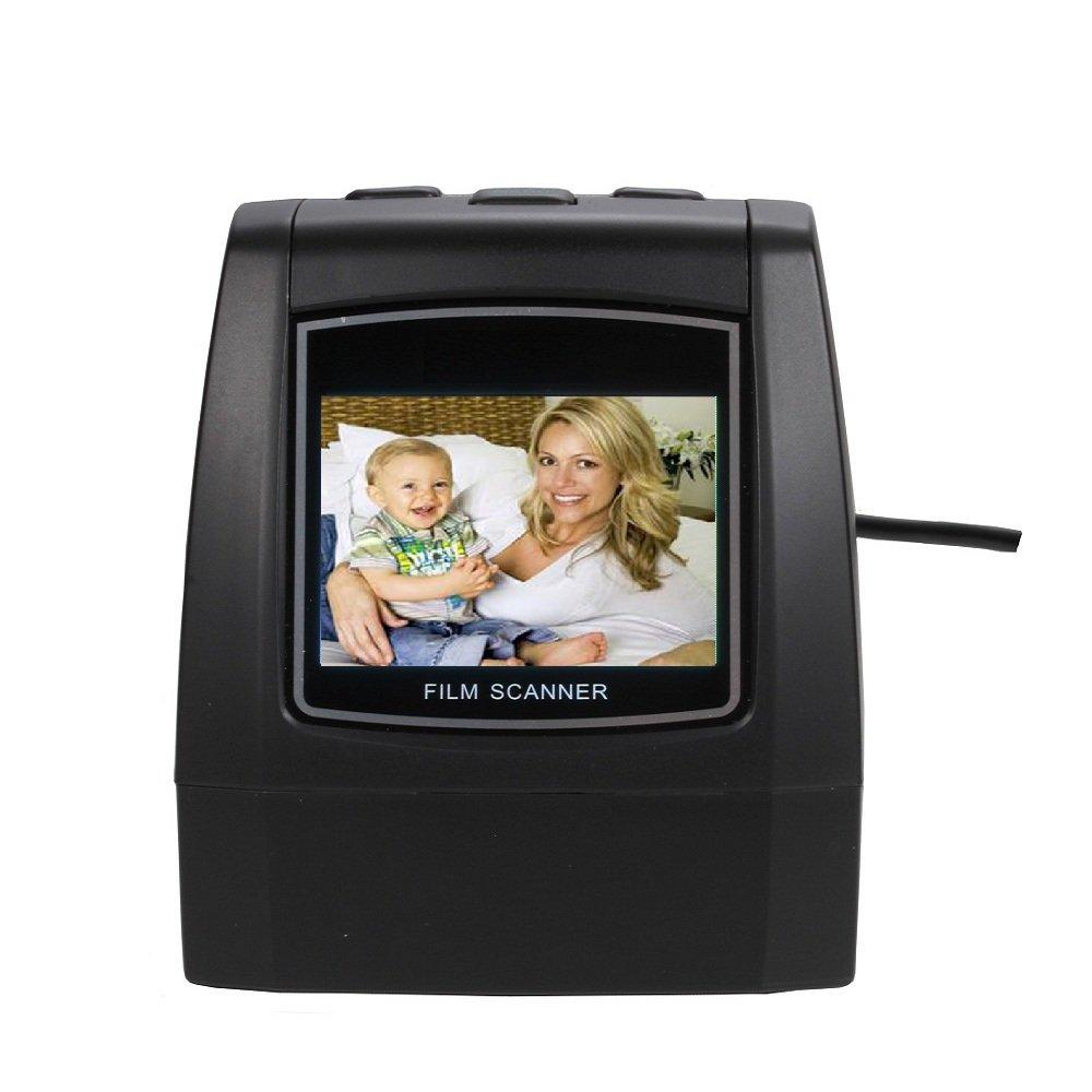 Minidiva Film Slide Scanner, High Speed-Load Adapters for 135/35/126/110/8mm Negative Slides Super Films Scanner and Converter