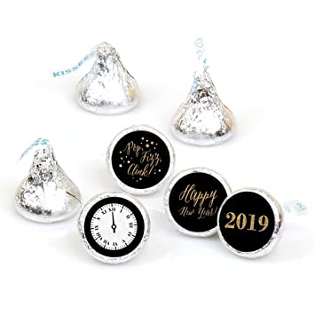 new years eve gold round candy 2019 new years eve sticker favors labels