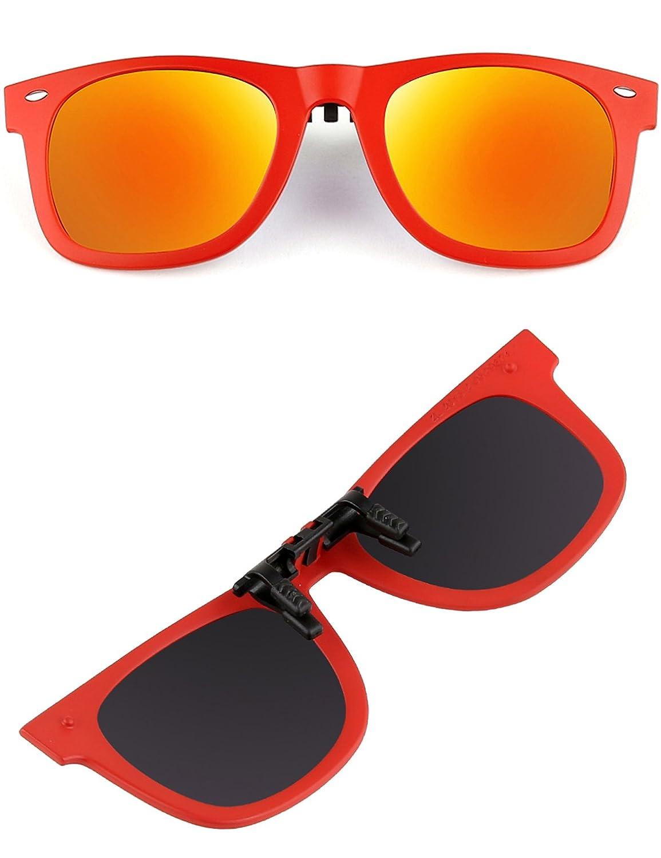 ATTCL® New Unisex Reflective Wayfarer Stil Flip Up Clip on ...