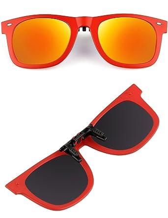 Sport Glas Polarisiert Wechselrahmen Flip Up Clip Wayfarer Sonnenbrille Objektiv TR90, UV400, Rahmen, Herren damen unisex, silber