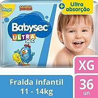 Fralda Babysec Galinha Pintadinha Ultrasec Xg 36 Unids, Babysec, XG