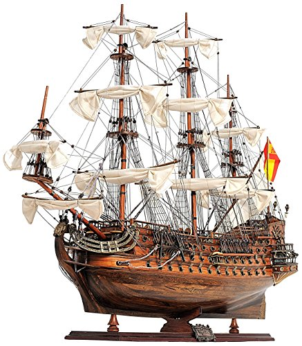 Old Modern Handicrafts San Felipe Medium Wooden Model Ship, Multi