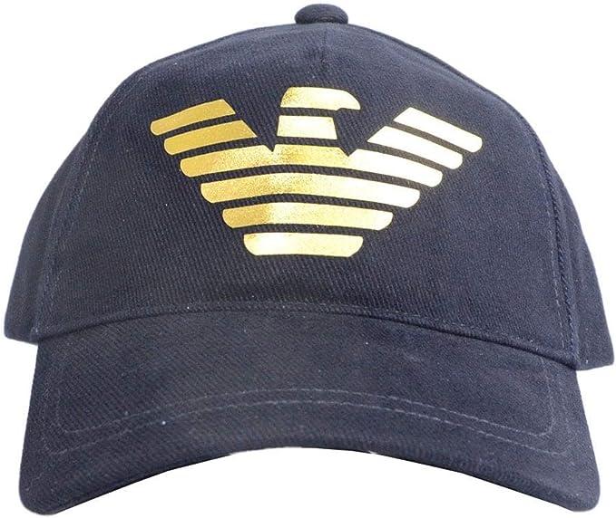 Emporio Armani - Gorra de béisbol, Color Azul Marino Azul Azul ...