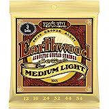 Ernie Ball Earthwood juegos de luz 80/20bronce.011–.052(paquete de 3)
