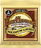 Ernie Ball Earthwood Medium Light 80/20 Bronze Sets.012 - .054 (3 Pack)