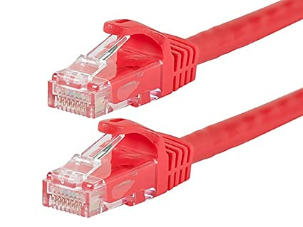 7ft Cat6 UTP Network Ethernet Internet Cable Wire Red 550MHz 24AWG LAN Cat 6 6/'