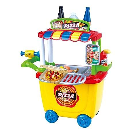 Playgo - Carrito Pizzeria y 6 botes plastilina (28 gramos) (ColorBaby 44577)