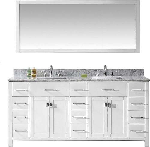Virtu USA MD-2172-WMSQ-WH Caroline Parkway Bathroom Vanity