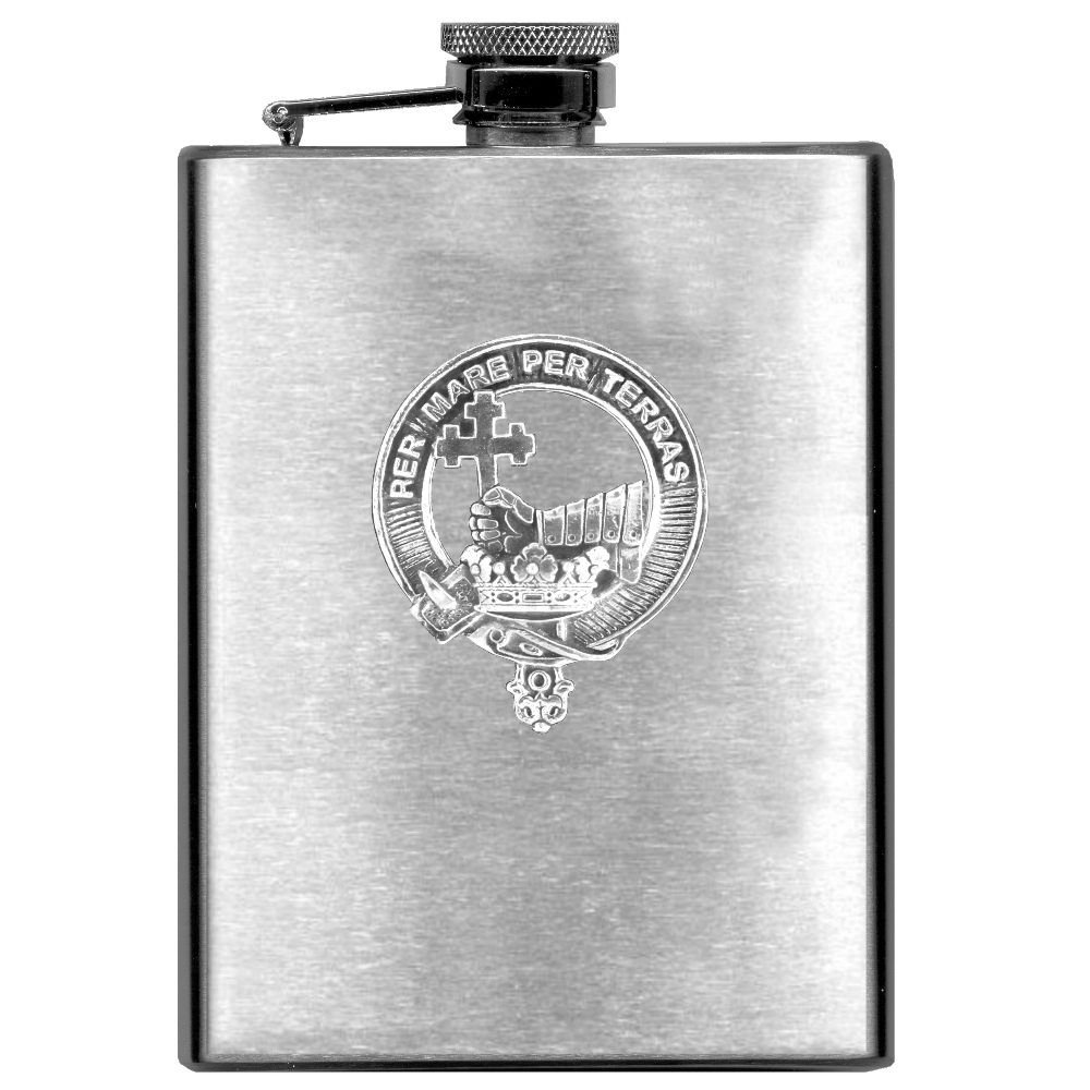 MacDonald (Isles) Scottish Clan Stainless Steel 8oz Flask