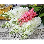 Skyseen-6PCS-Stems-32-Artificial-Antirrhinum-Snapdragon-Silk-Hyacinth-FlowersWhite
