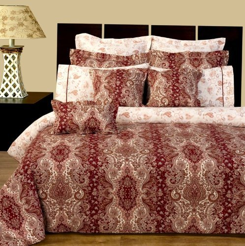 Luxury 11 piece Queen size Reversible Hampton Duvet Cover Set By sheetsnthings