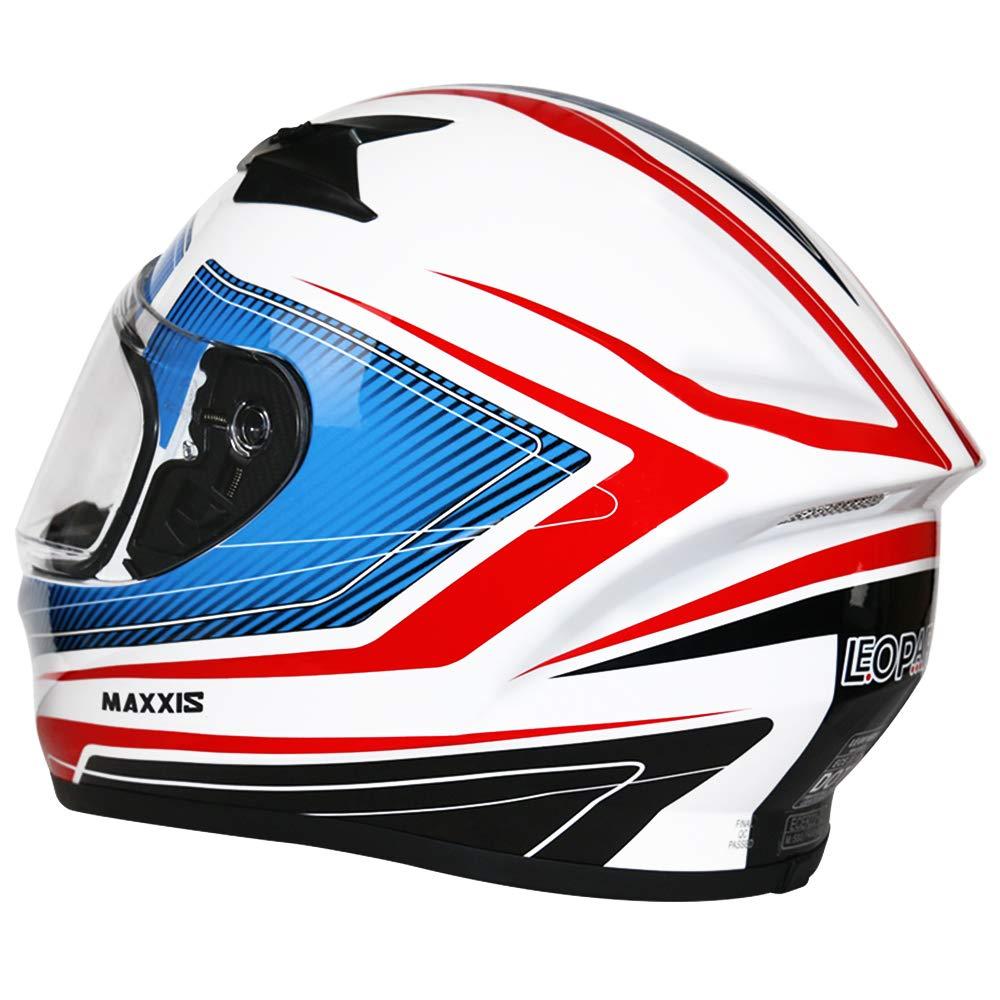 - Motorbike Helmet ECE 2205 /& DOT Approved Leopard LEO-813 Full Face Motorcycle Helmet Matt Black L 59-60cm