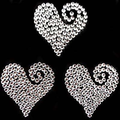 dcr Vajazzle Kit - 3 x Remolino corazón Cristal Tatuajes: Amazon ...