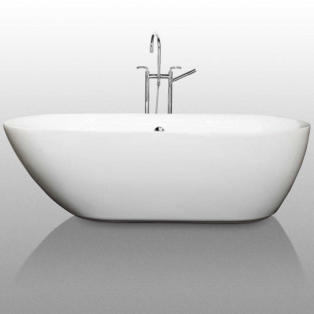 Wyndham Collection Melissa 71 inch Freestanding Bathtub for Bathroom ...