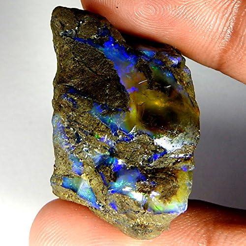 Rahhey Krishna Gemmes 12,85 cts 100/% naturels Multi clignotement Opale /éthienne Brute Pierre pr/écieuse AA+