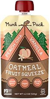 product image for Munk Pack Oatmeal Fruit Squeeze Pouch, Peach Chia Vanilla, 4.2 oz (Pack of 6)
