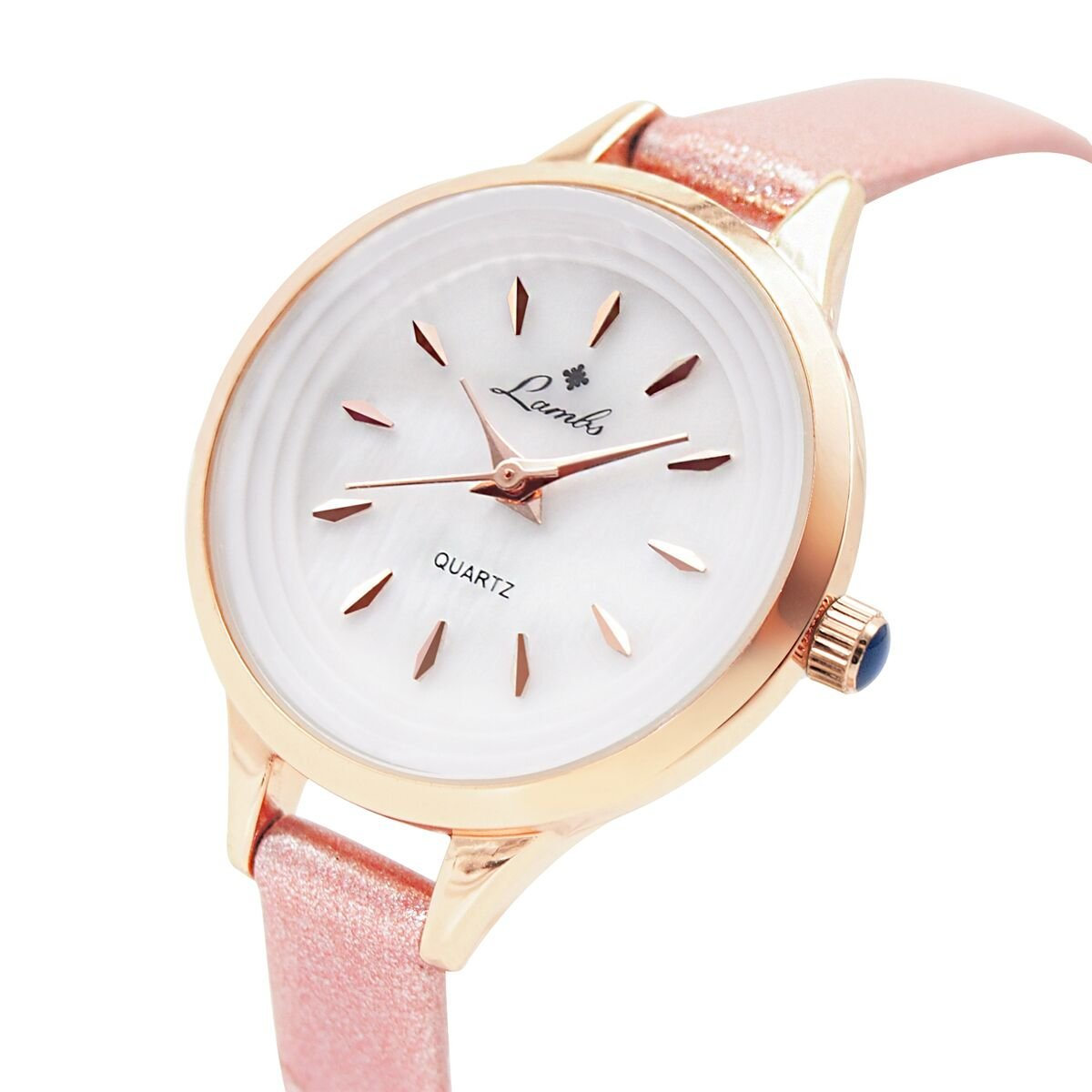 Ladies Watches,Girls Waterproof Watch Elegant Fashion Casual Watches for Women,Wrist Watches Easy to Read Times Leather Band Strap for Girls Watch(Pink)