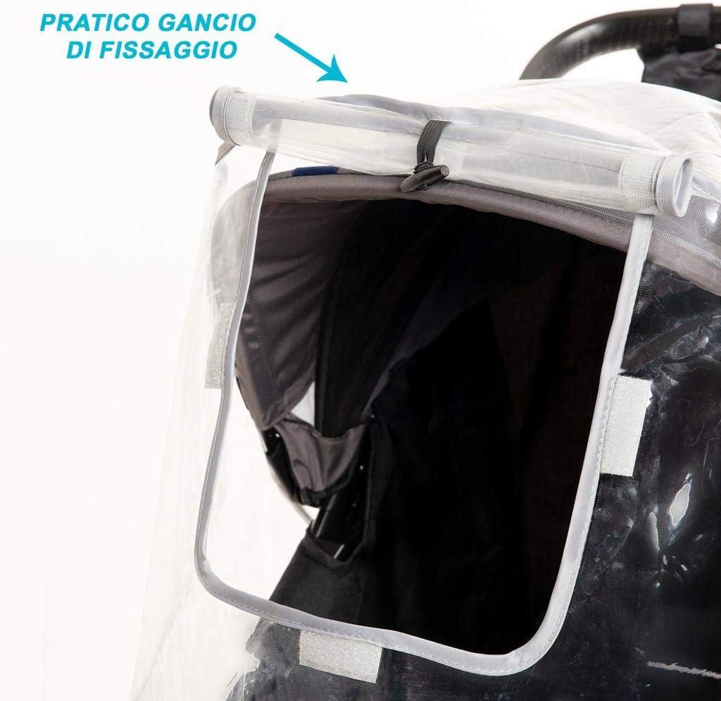 Cover Passeggino Universale Protegge da Neve Vento Pioggia Prodotto 100/% Italiano BPA Free Copripasseggino Universale Traspirante Anti Umidit/à Atossico Buon Ricircolo DAria