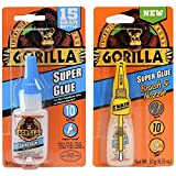 Gorilla Super Glue 15g and Super Glue Brush & Nozzle 10g - Combo