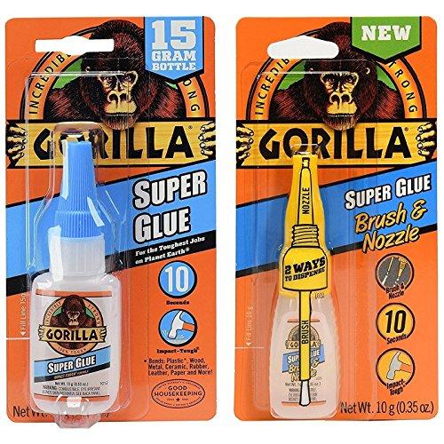 Glass Nozzle (Gorilla Super Glue 15g and Super Glue Brush & Nozzle 10g - Combo)