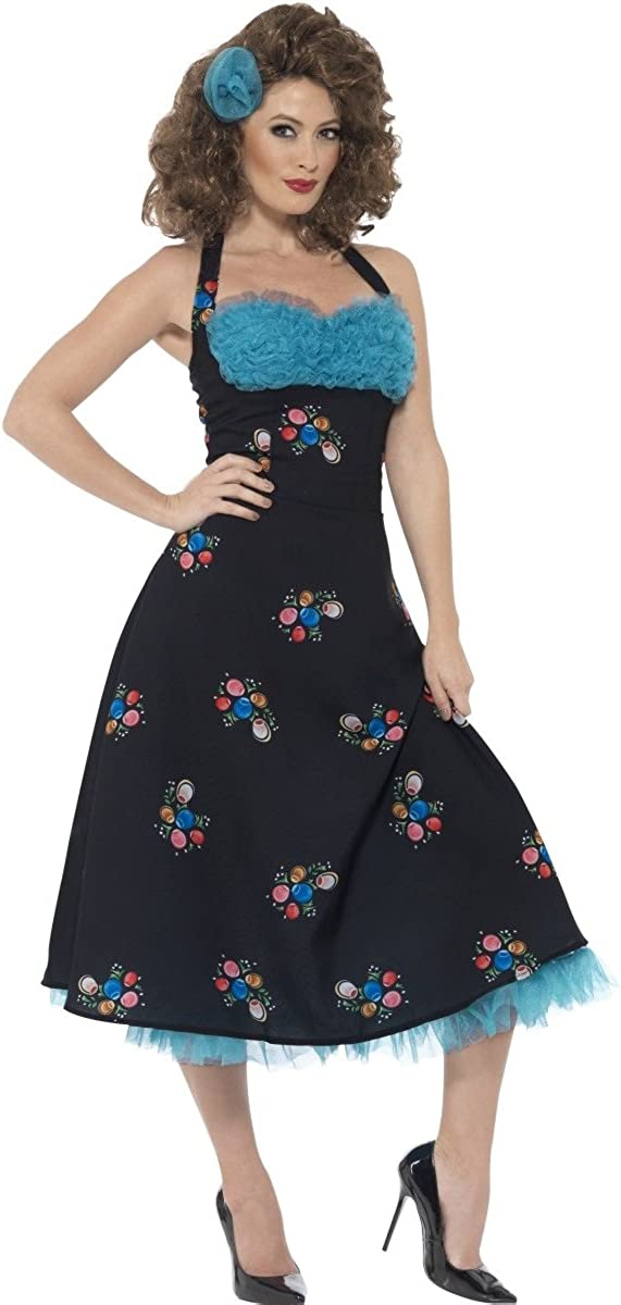 Amazon.com: Ladies 1950s 50s Cha Cha DiGregorio Grease Film Fancy Dress  Costume Outfit UK 12-14 & UK 16-18: Clothing