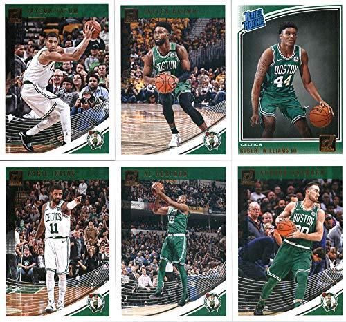 (2018-19 Donruss Basketball Boston Celtics Team Set of 6 Cards: (Rookies included) Kyrie Irving(#56), Jaylen Brown(#66), Jayson Tatum(#76), Gordon Hayward(#86), Al Horford(#96), Robert Williams III(#167))