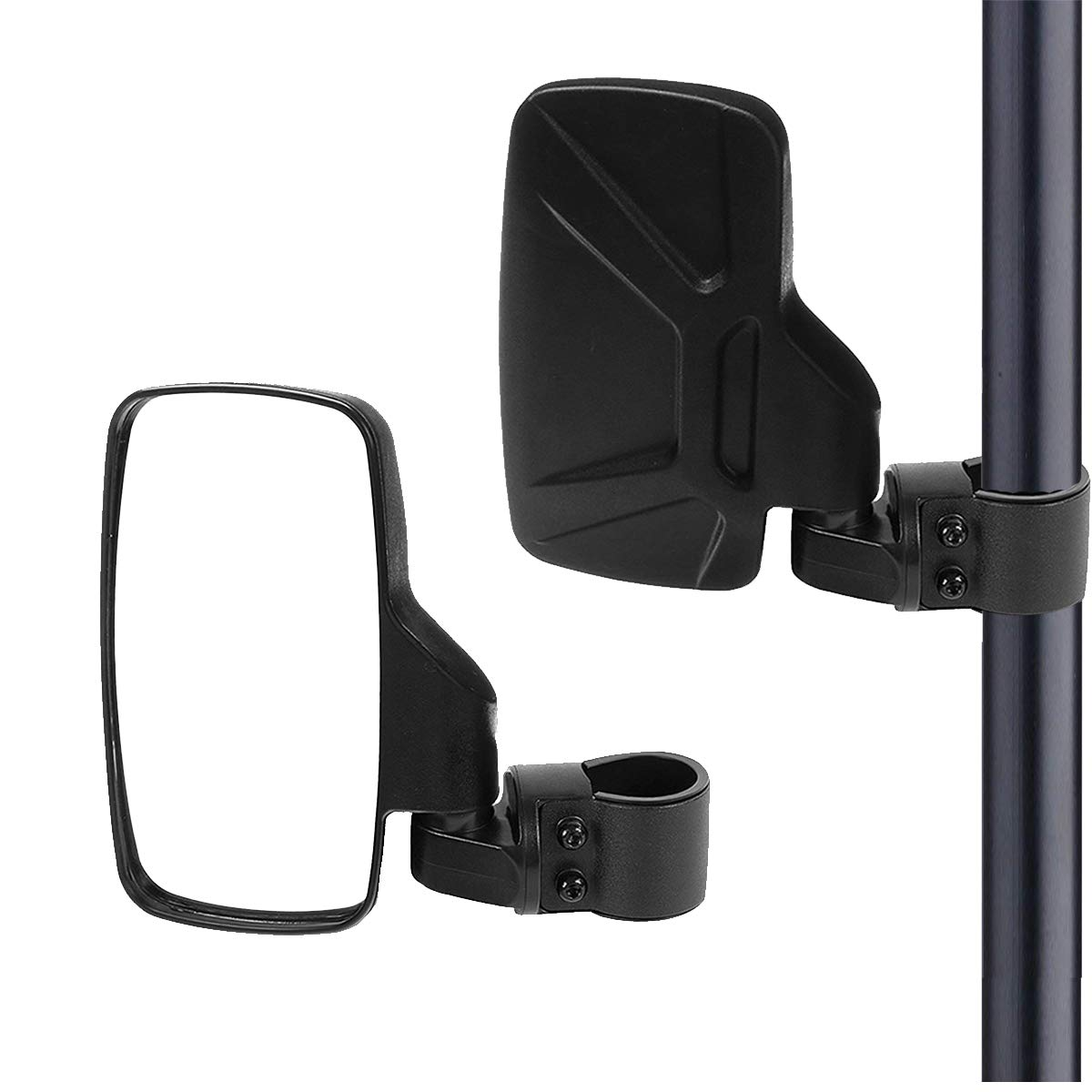 UTV Side View Mirrors, Offroad Rear View Mirror with Shatter-Proof Tempered Glass for Polaris RZR, Can-Am, Kawasaki, kubota, Yamaha, Maverick moveland