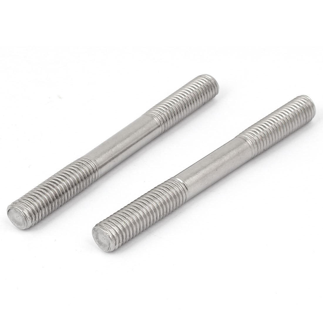 uxcell M10x100mm Double End Thread 304 Stainless Steel Tight Adjustable Push Rod Stud 10pcs by uxcell (Image #3)