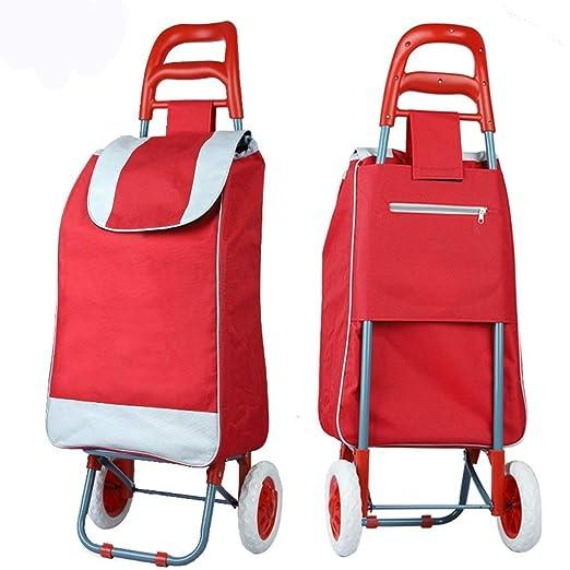 IG Bolsa de carro de compras de 2 ruedas para el hogar con ...
