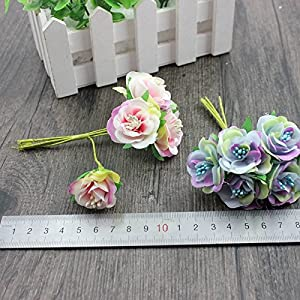 6 Pcs/LotMini Silk Daisy Artificial Rose Flowers Bouquet DIY Wedding Decoration Paper Flower For Scrapbooking Flower 2