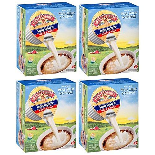 Land O Lakes Mini Moo's Half & Half Dairy Creamer 24-0.28 fl. oz. Box (Pack of 4) by International Delight