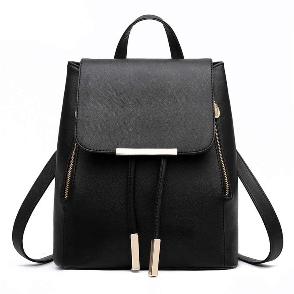 Womens Candy Color Pu Soft Leather Lovely Backpack Cute Schoolbag Shoulder Bag